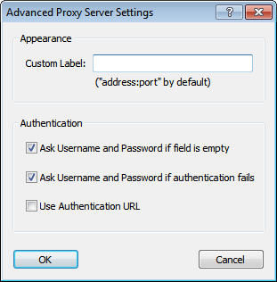 Advanced Proxy Server Settings