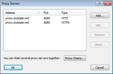 HTTP Proxy Support